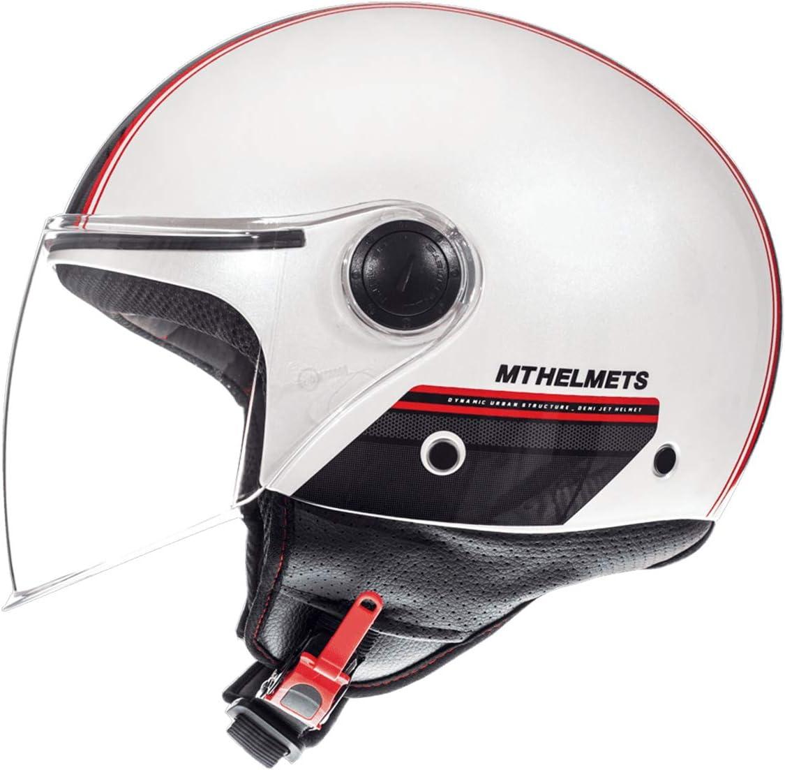 Matt Gr/ün, XS MT Street Jet-Helm /· Motorrad-Helm Roller-Helm Scooter-Helm Bobber Mofa-Helm Chopper Retro Cruiser Vintage Pilot Biker ECE 22.05