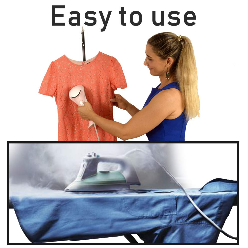 Stylish and Effective PERLAY Portable Handheld Cloth Steamer Lightweight Wrinkle Remover and a Convenient Alternative to Ironing.