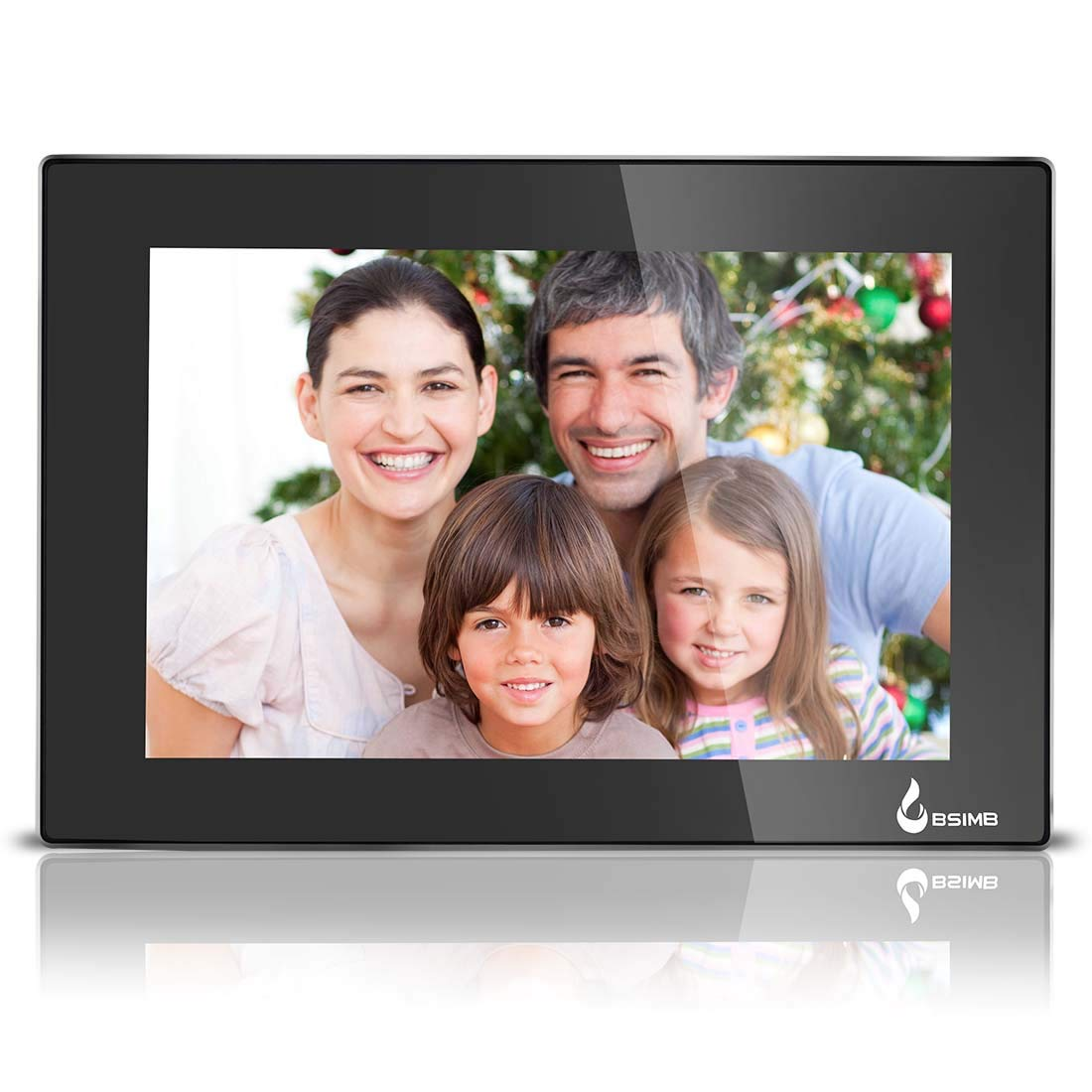 BSIMB 10.1 Inch Wi-Fi Digital Picture Frame Digital Photo Frame 1280x800 IPS Touch Screen Add Photos and Videos from iPhone & Android App Twitter Facebook Email W01
