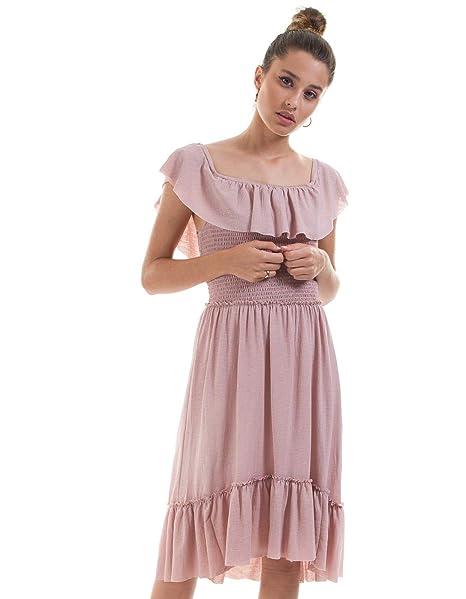 Vila Vestido Para Mujer Vipetra Rosa S