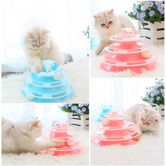 Gato Turntable Track Ball Toy Pet Interactivo Diversión Roller ...