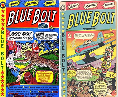 Blue Bolt. Issues 102 and 103. Includes Target, candid charlie, rick richards and action packed adventures. Golden Age digital comics Heroes and Heroines