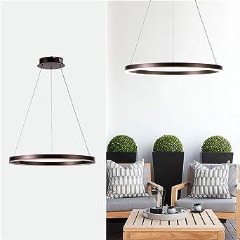 Lámpara colgante moderna redonda, pantalla de lámpara de techo ajustable, lámpara de araña con