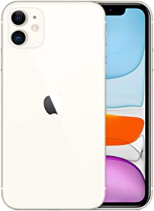 Apple iPhone 11, 64GB, White - Fully Unlocked (Renewed)