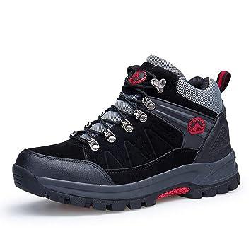 Zxcvb Zapatillas de Senderismo para Hombre Zapatos de Gamuza de Escalada, Zapatos de Seguridad para