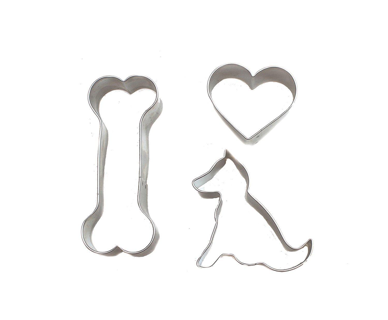 ... para galletas DIY Kit con 3 moldes, silicona para horno bandeja & Orgánico de perro galletas receta Plus Bonus brazo y martillo dedo cepillos de dientes ...