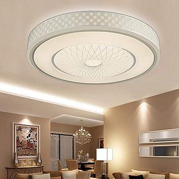 Liergou Home 12w Led Lumineuse Ronde Plafond Bas Lumiere Moderne