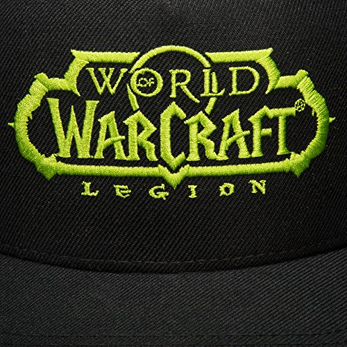 JINX-World-of-Warcraft-Legion-Darkness-Snapback-Baseball-Hat-Black-One-Size