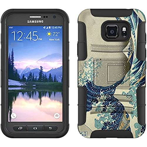 Samsung Galaxy S7 Active Armor Hybrid Case Katsushika Hokusai Great Wave off Kanagawa 2 Piece Case with Holster for Samsung Galaxy S7 Active Sales