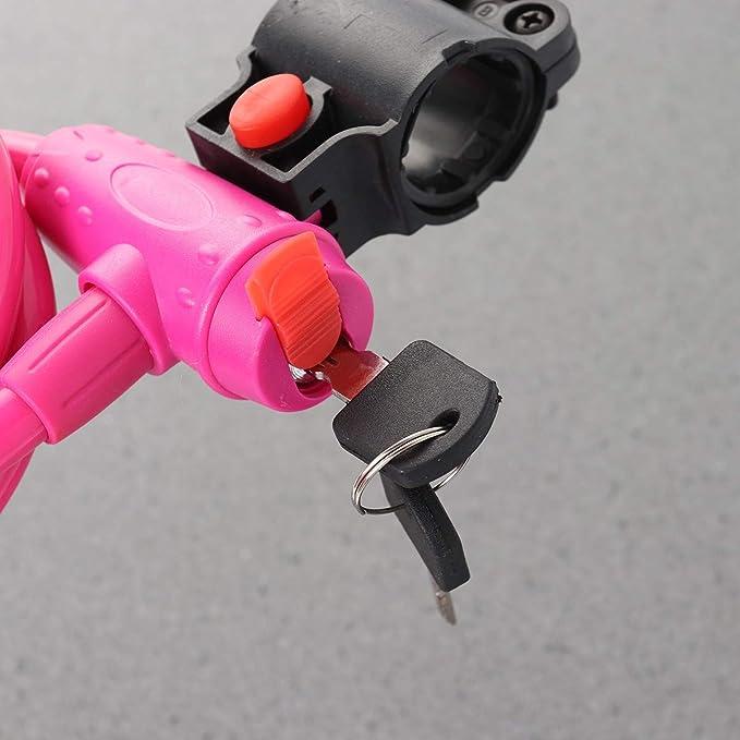 Clispeed candado Coloreado para Bicicleta cerraduras para Cables ...