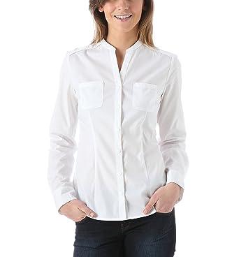 4265810eb4af Blanc 44 Mao Chemise Et Promod Vêtements Femme Col xI8PqXwUf