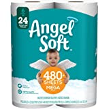 Angel Soft Toilet Paper, 6 Mega Rolls, 6 = 24 Regular Rolls, 484 sheets per roll - Packaging May Vary
