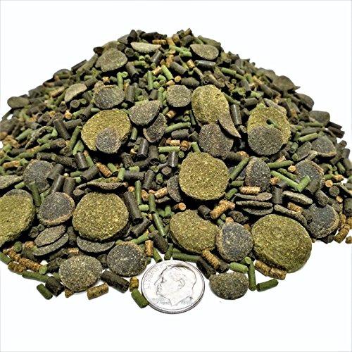 Aquatic Foods Inc. GOURMET BLEND - Spirulina Veggie Wafers & Krill Bits Mix. (Gourmet Wafers)