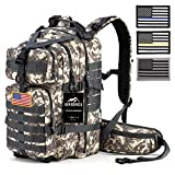 RUPUMPACK 35L Military Tactical Assault Backpack with 4 Pack of USA Flag Patch, Hydration Compatible Backpack, Army MOLLE Bug Out Bag for Outdoor Hiking Camping Trekking Hunting Daypack Review