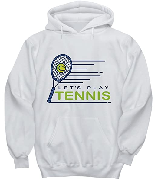 Amazon.com: Candid Awe Lets Play Tennis - Tennis Player, Racket Sport, Tennis Lover – Unisex Hoodie: Clothing