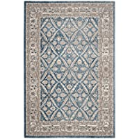 Safavieh Sofia Collection SOF378C Vintage Blue and Beige Distressed Area Rug (51 x 77)