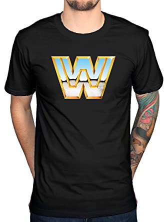 Official WWE Classic Logo-Camiseta para Hombre, diseño de Hulk Hogan Wrestling WWF: Amazon.es: Ropa y accesorios