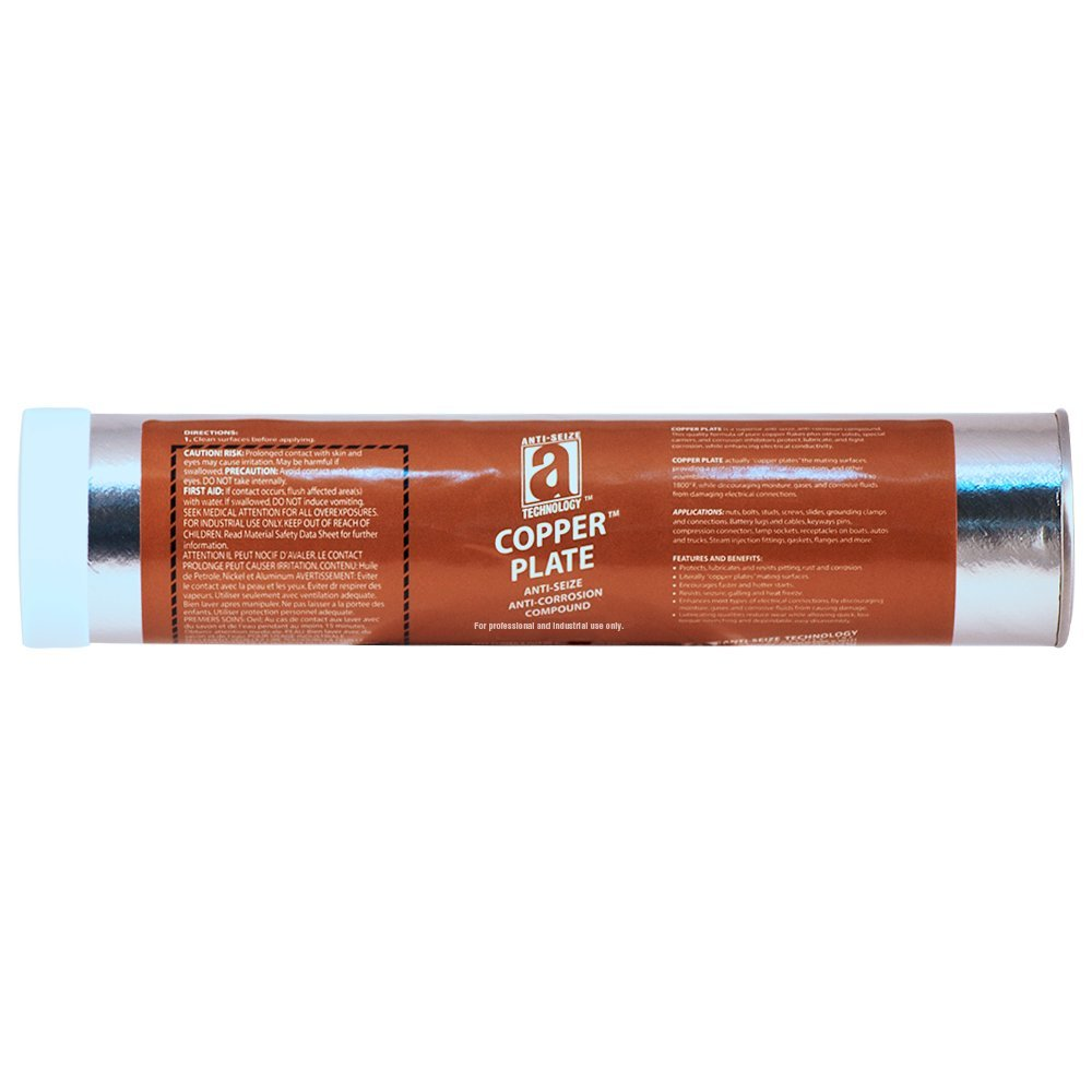 COPPER PLATE 21015 Anti-Seize Compound without Graphite or Aluminum in a Non Melting Carrier, 15 oz., Copper, Paste