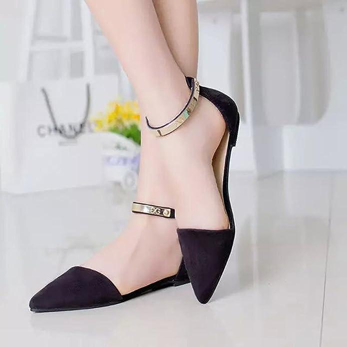 keephen Eleganti Scarpe da Donna Eleganti Scarpe da Sera Eleganti Scarpe  Casual con Tacchi Bassi (Nero)  Amazon.it  Scarpe e borse 2b9672b3955