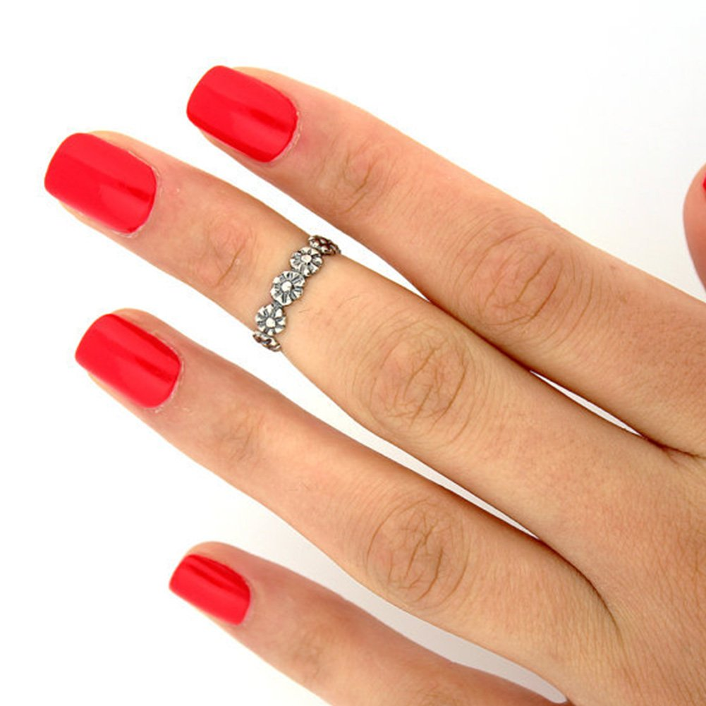 Amazon makiyo silver plated adjustable daisy toe ring izmirmasajfo Image collections