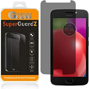 [2-Pack] for Motorola Moto E4 Plus/Motorola Moto E Plus (4th Gen) Tempered Glass Screen Protector [Privacy Anti-Spy], SuperGuardZ, 9H Anti-Scratch [Lifetime Replacements]