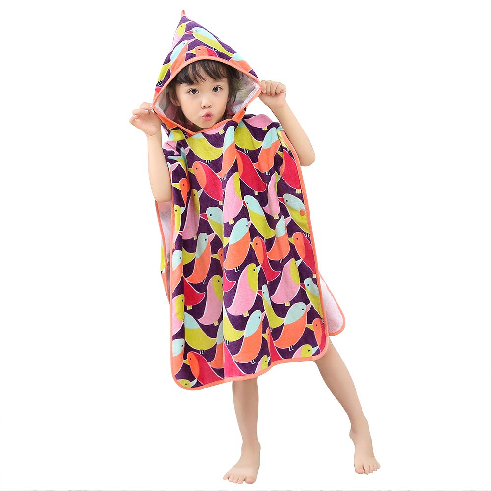 "B07LC9GMNT Anikea Girls Hooded Bath Towel 100% Cotton 47.2"" x 23.6"" for Beach Pool Shower 61xLY7ANp0L"