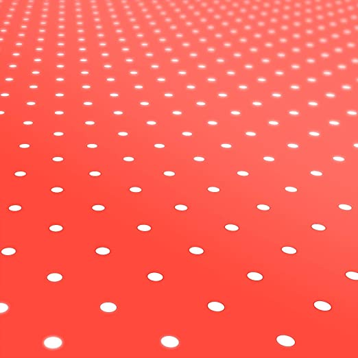Mantel para mesa de hule, lavable, puntos rojos, redondo, 100 cm., toalla, rojo, 100 x 140cm: Amazon.es: Hogar
