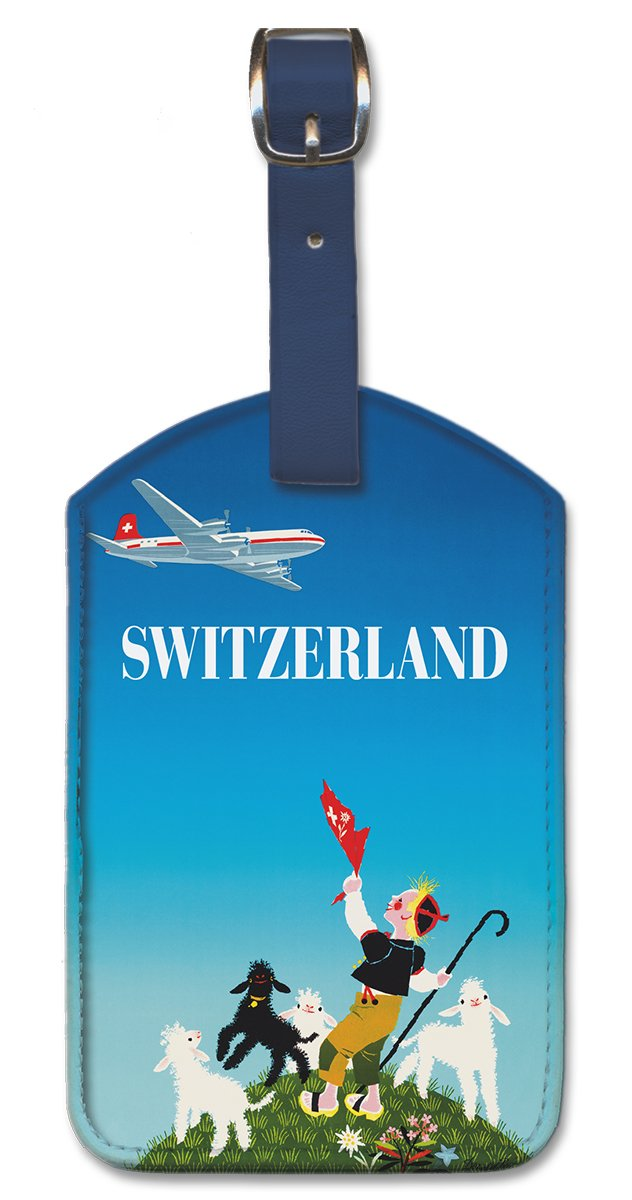 Switzerland by Donald Brun Pacifica Island Art Leatherette Luggage Baggage Tag
