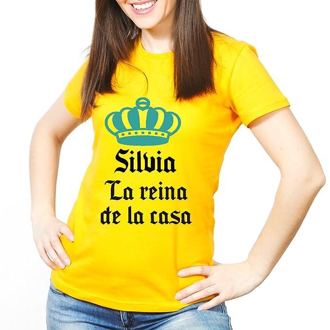 Calledelregalo Regalo Personalizable: Camiseta la Reina de la casa Personalizada con su Nombre