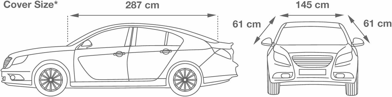 ca 315 x 145 x 61 cm CAR TOP COVER Opel Meriva Nylon Halbgarage Größe XL