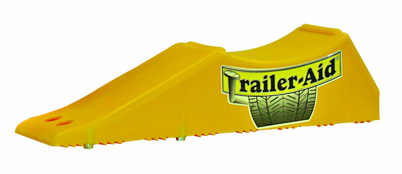 Trailer Aid Tandem Tire Changing Ramp, The Fast and Easy Way To Change A Trailer's Flat Tire, Holds up to 15,000 lbs, 4.5 Inch Lift (Yellow)