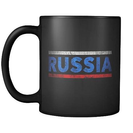 Amazon.com: Retro de bandera de Vintage ruso Rusia 11oz ...