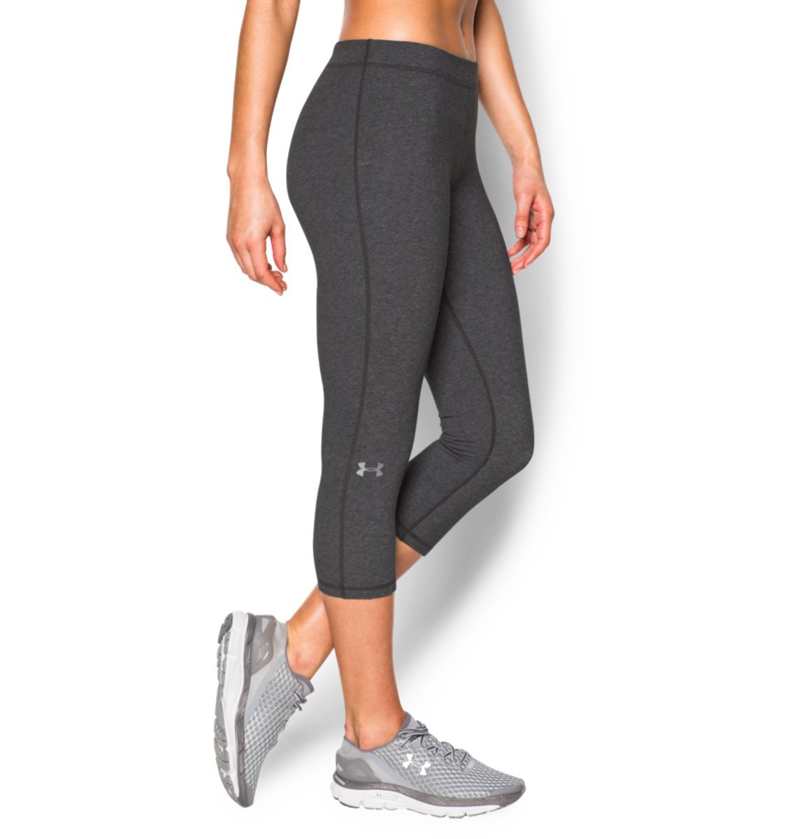 Under Armour Women's Favorite Capris - Solid Carbon Heather/Metallic Silver Pants by Under Armour