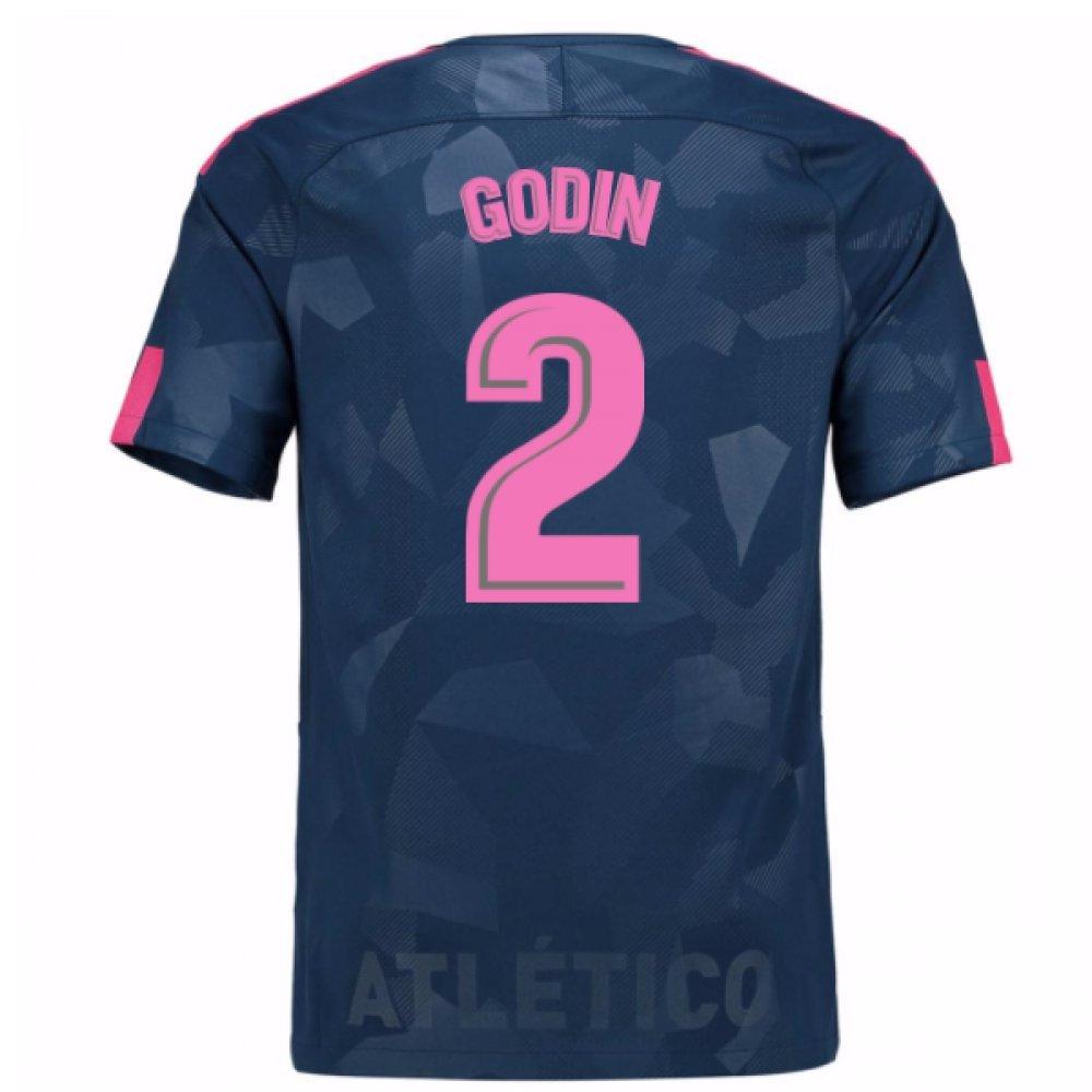 2017-18 Atletico Madrid Third Football Soccer T-Shirt Trikot (Diego Godin 2)