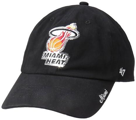 Amazon.com   NBA Miami Heat Women s Sparkle Clean Up Hat 2584cbcca4