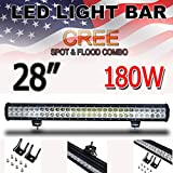 Thenese LED Light Bar 28inch 180w Cree Led Light Bar Flood Spot Combo Driving Offroad JEEP 4WD ATV N1
