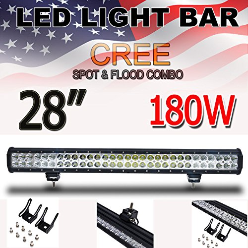 Thenese LED Light Bar 28inch 180w Cree Led Light Bar Flood Spot Combo Driving Offroad JEEP 4WD ATV N1 by Thenese