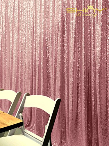 PHOTOBOOTShiDianYi 4FTx6FT Fuchsia Pink Backdrop Curtain Photography