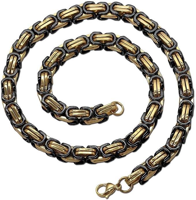 60cm Herren Edelstahlkette Kette Halskette Panzerkette Königskette