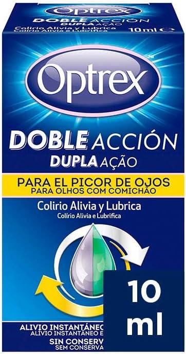 Optrex Colirio Multidosis Doble Acción para Picor de Ojos - 1 Unidad