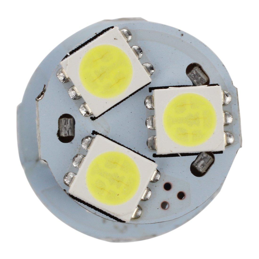 TOOGOO 4X White 1156 P21W BA15S R10W 18 LED 5050 SMD Tail Brake Signal Side Light Bulb R