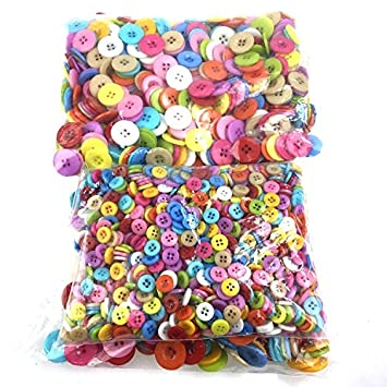 Button Painting DIY Handmade Materials Package Paste Childrens Hand Colored Round Buttons Flower