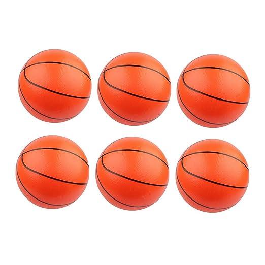Amosfun - Juego de 6 Pelotas de Baloncesto hinchables, Color ...