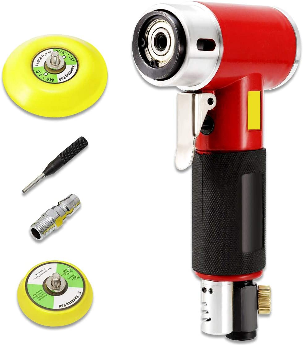 Furniture Dyna-living 2 Inch /& 3 Inch Mini Orbital Sander Air Dual Action Sander Air Polisher Super Smooth and Swirl Freely for Auto Body Work Black Cabinets