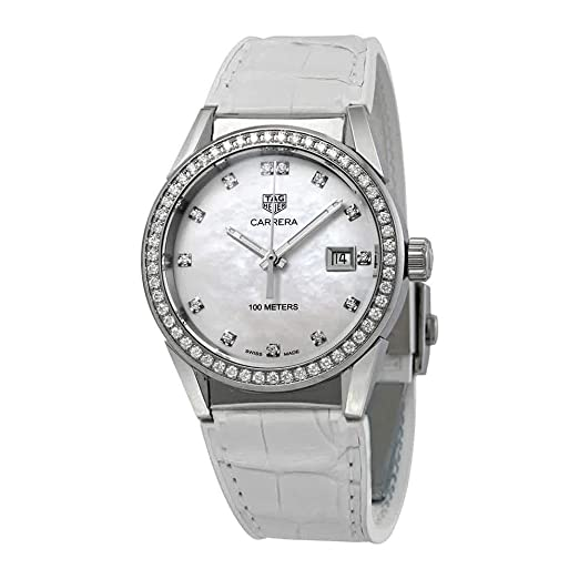 a5ec8af8ed35 Tag Heuer Carrera Diamond Mother of Pearl Dial Ladies Watch WBG1315.FC6412   Amazon.co.uk  Watches