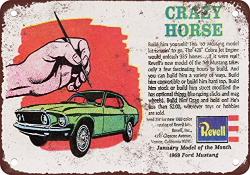1969 Mustang Revell Model of the Month Vintage Look Reproduction Metal Sign