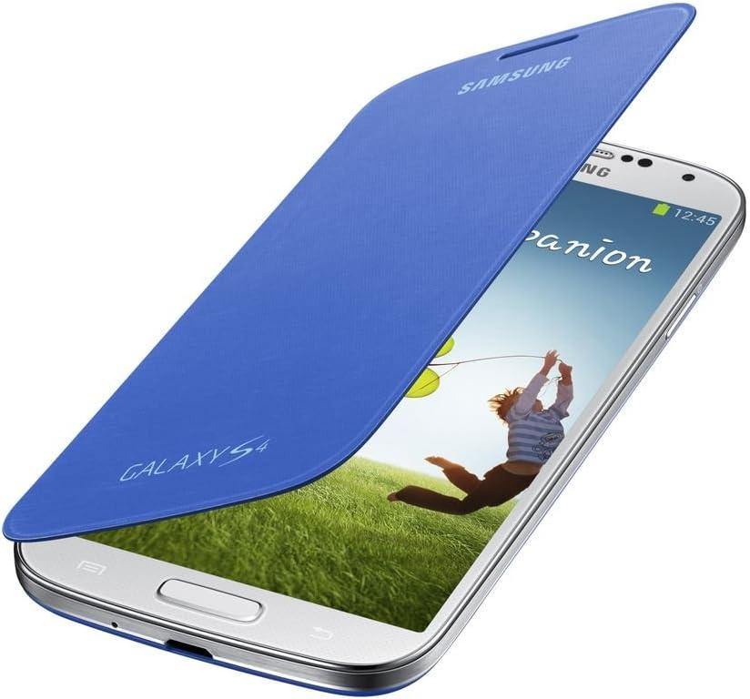 Samsung Flip - Funda para móvil Galaxy S4 (Con tapa, protección del terminal, sustituye a la tapa trasera), azul claro: Amazon.es: Electrónica