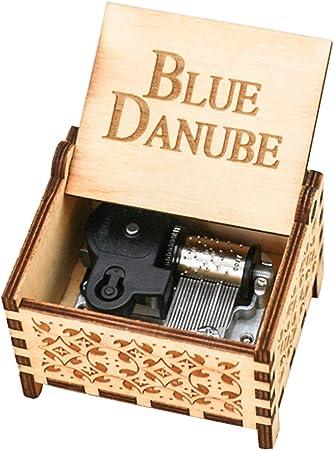 YouTang caja musical de madera grabada con cuerda: Amazon.es: Hogar