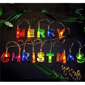 Amazon Com Leagway Merry Christmas Lights Multi Color