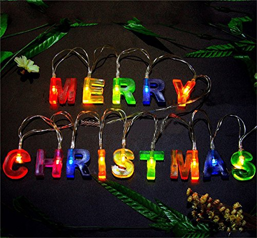 3' Lighted Christmas Wreath - Leagway MERRY CHRISTMAS lights, Multi-color Merry Christmas Letter Battery Operated LED String Light Banner, Christmas Party Decor Supplies for Christmas Xmas Party Home Decorations